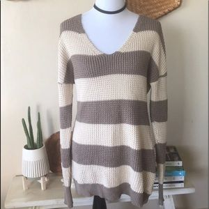 Guess striped knit sweater L